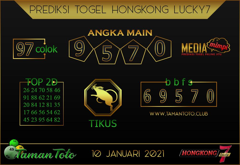 Prediksi Togel HONGKONG LUCKY 7 TAMAN TOTO 10 JANUARI 2021