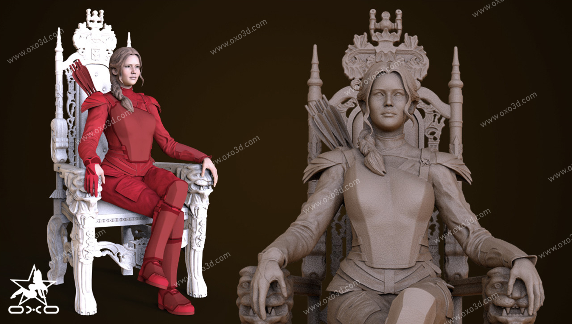 Katniss Everdeen 3D Print STL - Hunger Games Mockingjay
