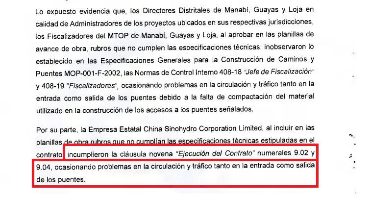 Fuente: Contraloría del Estado de Ecuador