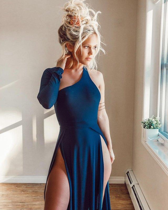 Платья с высокими разрезами. Часть 4