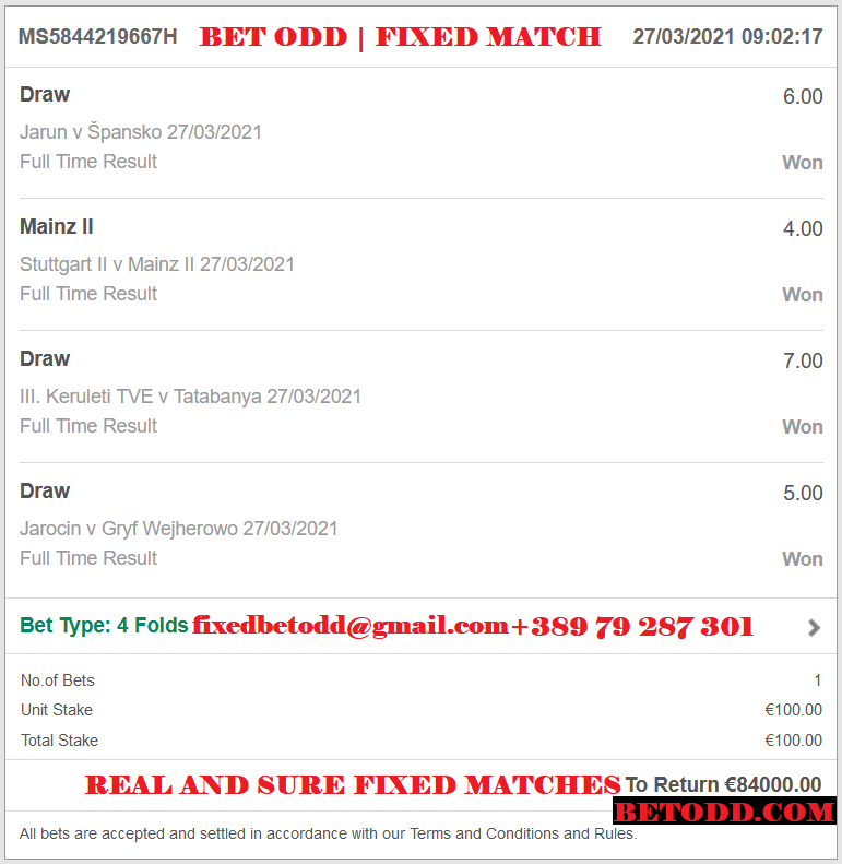 BET ODD FOUR COMBINED FIXED MATCHES
