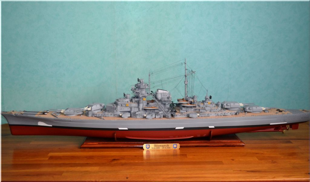 Bismarck au 1/200eme - Maquette Hachette/Amati Bismarck-07