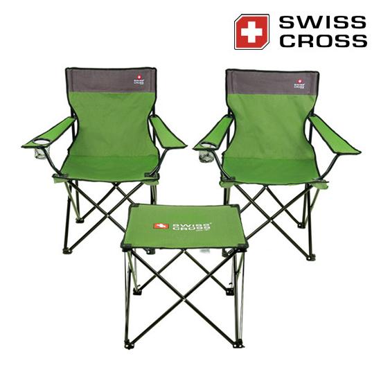 [코드번호:단종][WICO] 스위스크로스 노바 와이드 캠핑 체어&테이블 세트