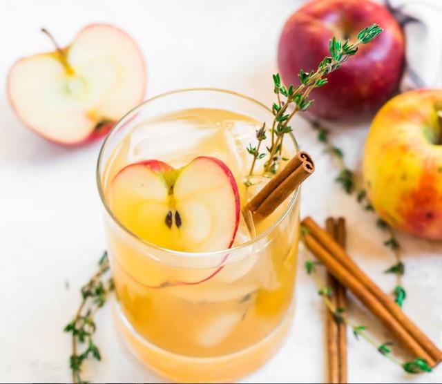 Коктейль из яблочного сидра