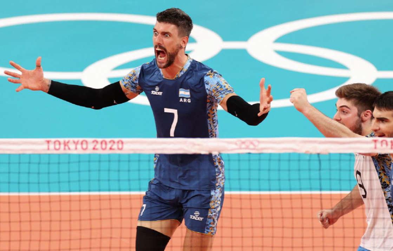 Argentina clasificó a cuartos de final de vóley con paliza a Estados Unidos en los Juegos Olímpicos