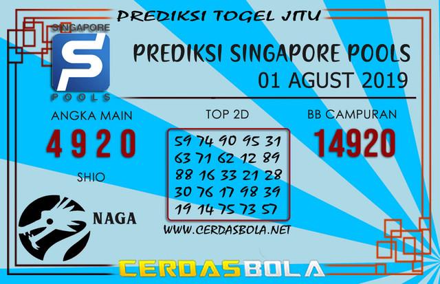 "Prediksi Togel ""SINGAPORE"" CERDASBOLA 01 AGUST 2019"