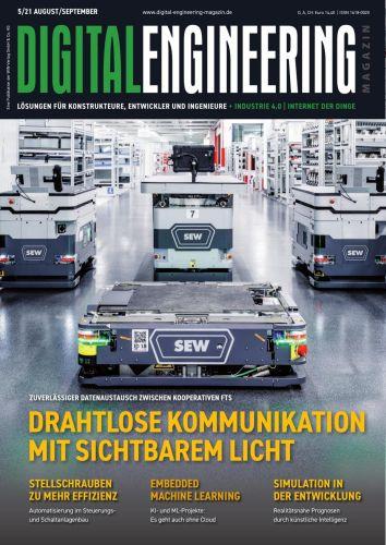 Cover: Digital Engineering Magazin No 05 September-Oktober 2021