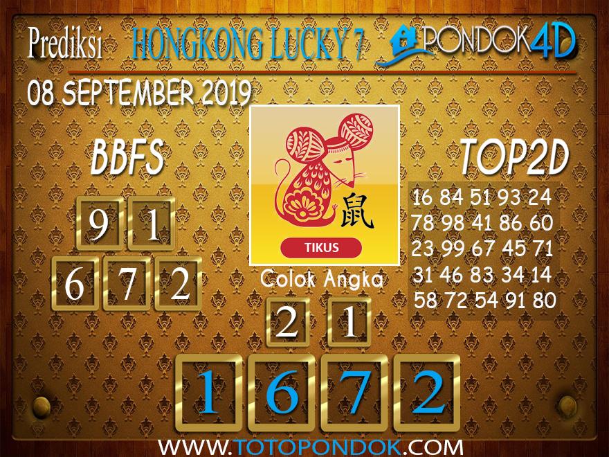 Prediksi Togel HONGKONG LUCKY 7 PONDOK4D 08 SEPTEMBER 2019