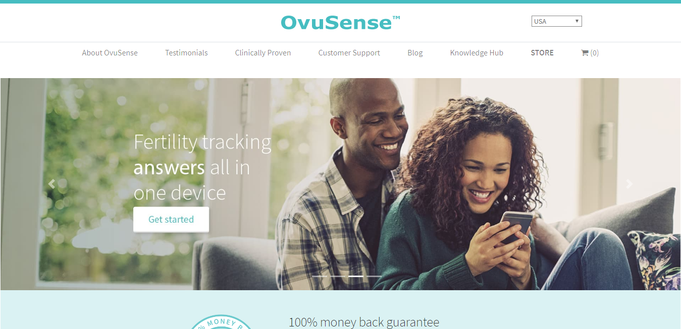 The OvuSense travel product recommended by Erin Dixon on Pretty Progressive.