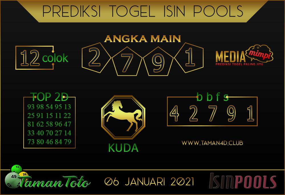 Prediksi Togel ISIN TAMAN TOTO 06 JANUARI 2021