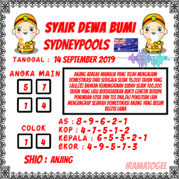 syair-dewa-bumi-sydneypools-14-september-2019