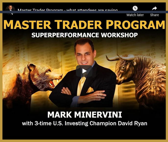 Mark Minervini Master Trader Program  - Superperformance Workshop
