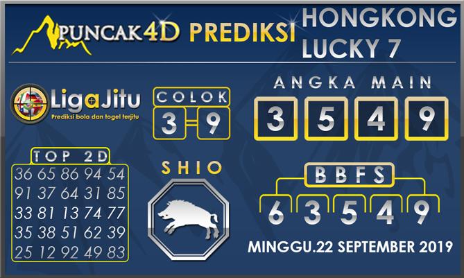 PREDIKSI TOGEL HONGKONG LUCKY7 PUNCAK4D 22 SEPTEMBER 2019