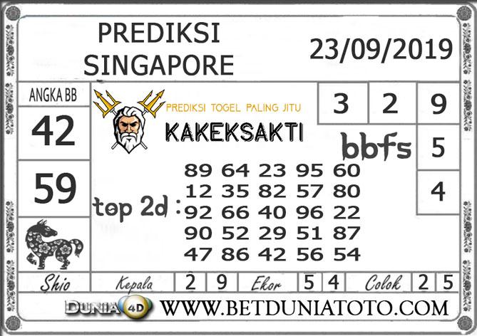 """Prediksi Togel """"SINGAPORE"""" DUNIA4D 23 SEPTEMBER 2019"""