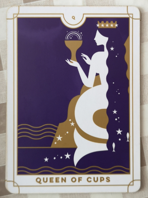 An image of the Queen of Cups from the Everyday Tarot deck.
