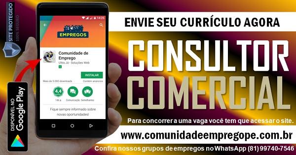 CONSULTOR COMERCIAL, 02 VAGAS PARA TRANSPORTADORA NO CABO DE SANTO AGOSTINHO