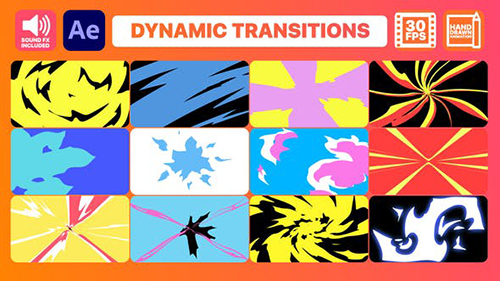 Dynamic Transitions | After Effects 30503846 - Project & Script (Videohive)