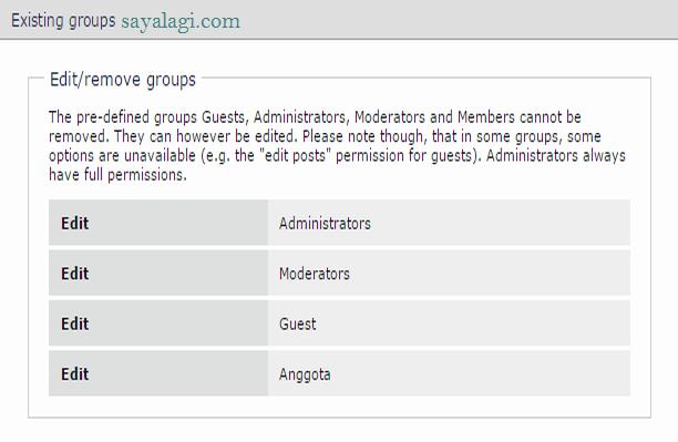 buat user group forum