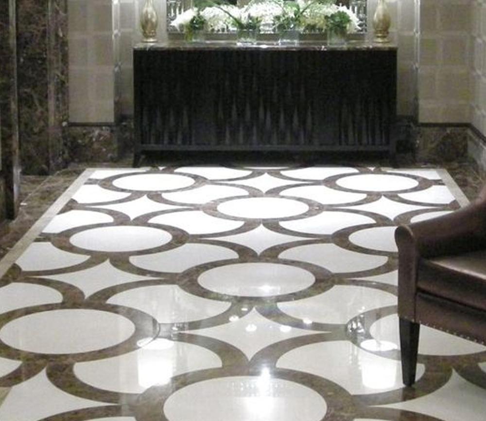 desain lantai granit Circle Granite Design
