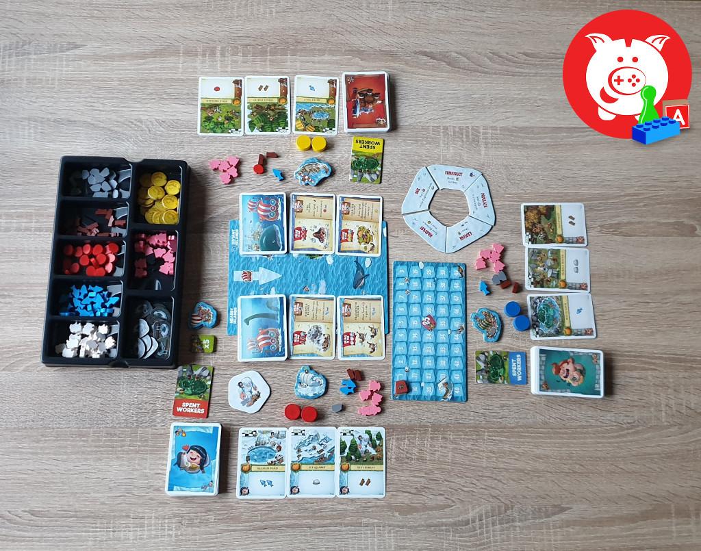 De setup voor drie spelers