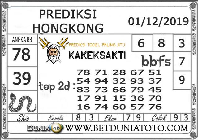 Prediksi Togel HONGKONG DUNIA4D 01 DECEMBER 2019