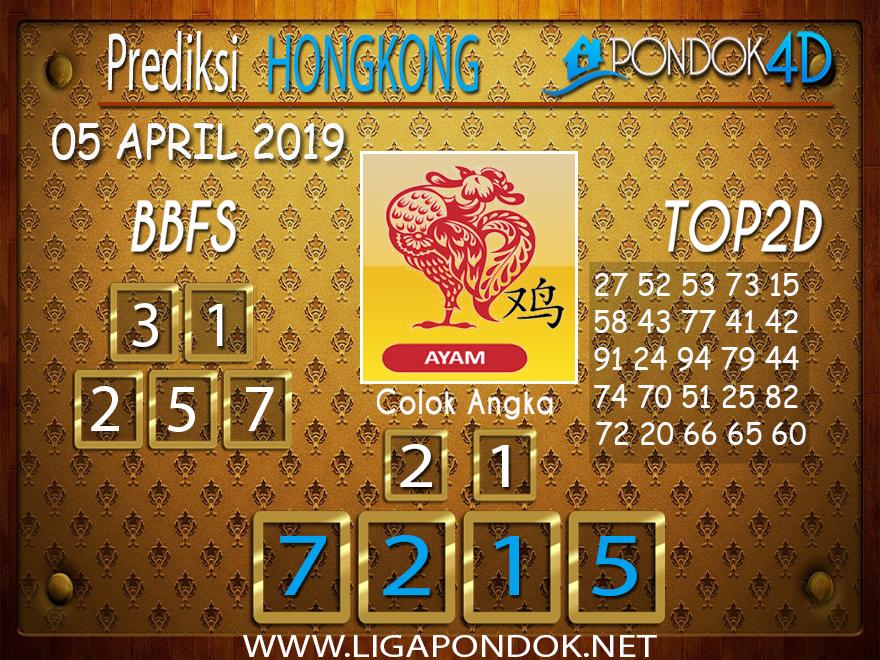 Prediksi Togel HONGKONG PONDOK4D 05 APRIL 2019