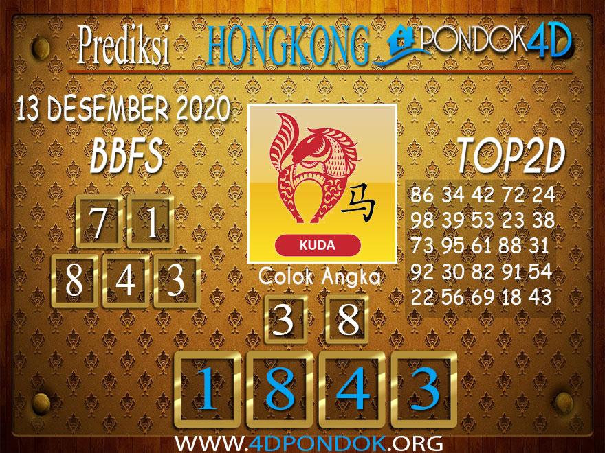 Prediksi Togel HONGKONG PONDOK4D 13 DESEMBER 2020