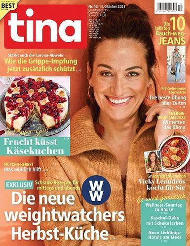 Cover: Tina Frauenmagazin No 42 vom 13  Oktober 2021