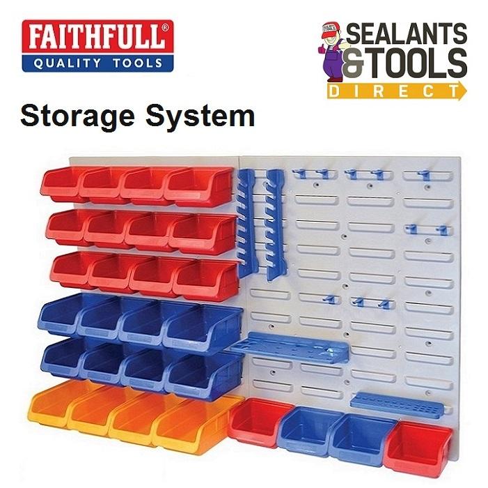 Faithfull Tool & Storage Bins Wall Mounted Panel Organiser FAIPAN43