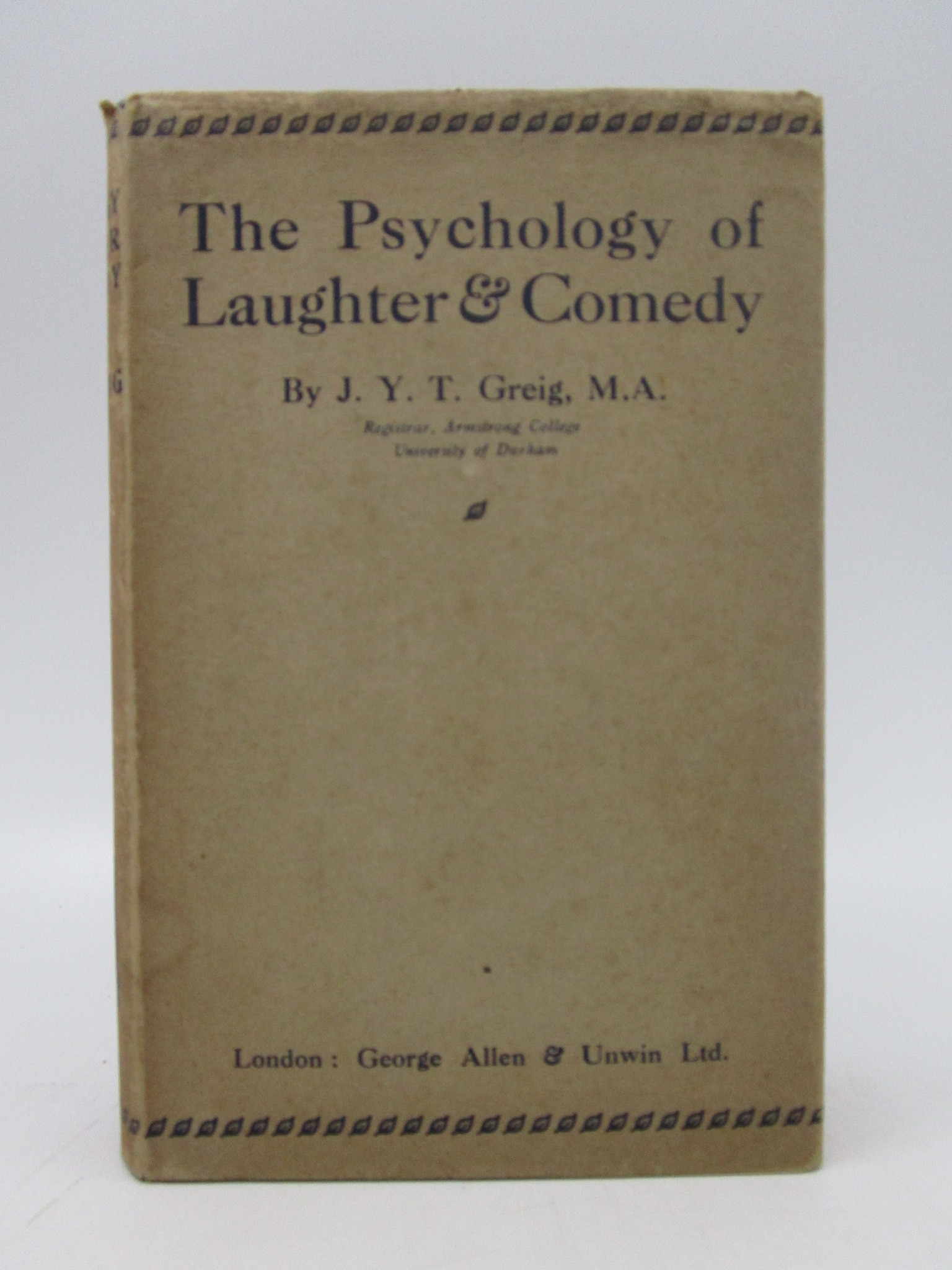 Image for The Psychology of Laughter and Comedy (First Edition)