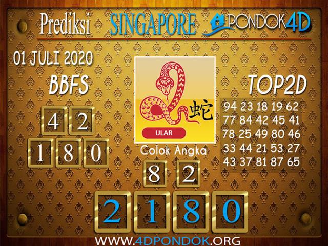Prediksi Togel SINGAPORE PONDOK4D 01 JULI 2020