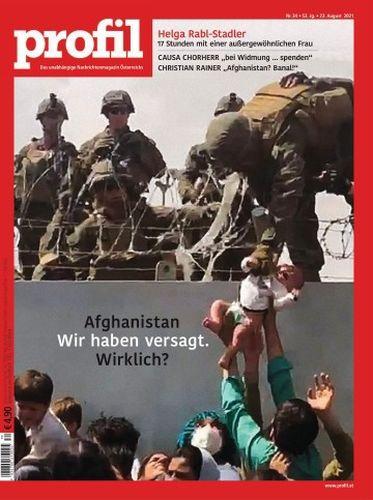Cover: Profil Nachrichtenmagazin No 34 vom 22  August 2021