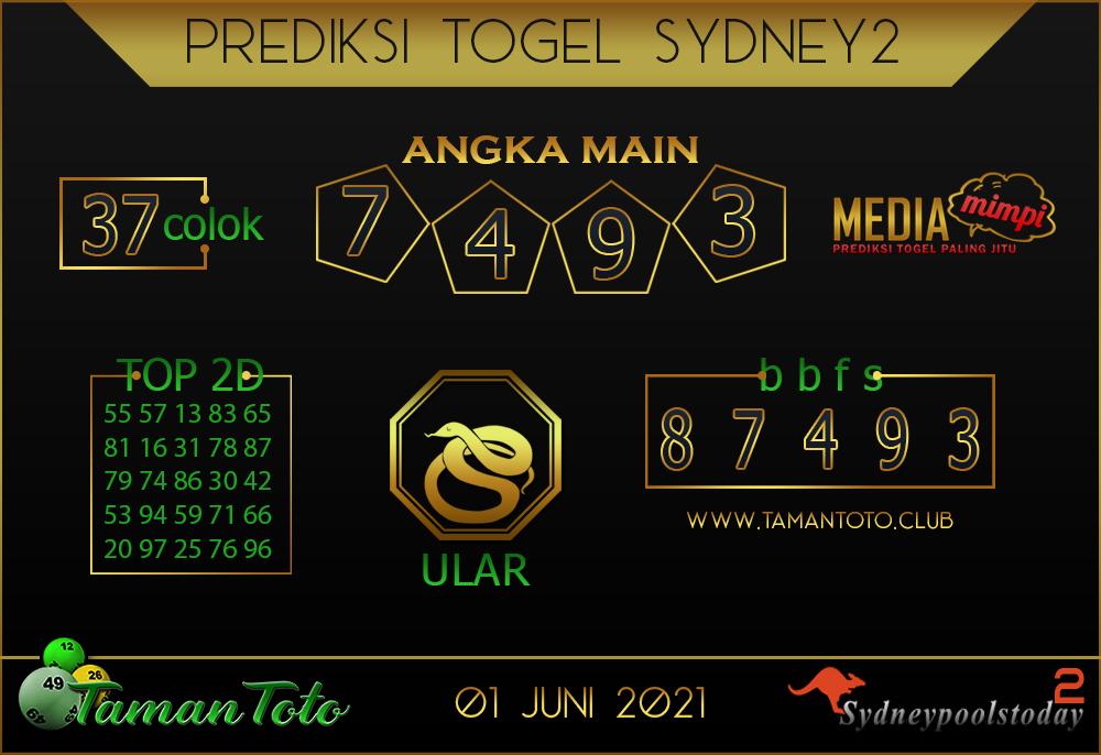 Prediksi Togel SYDNEY 2 TAMAN TOTO 01 JUNI 2021