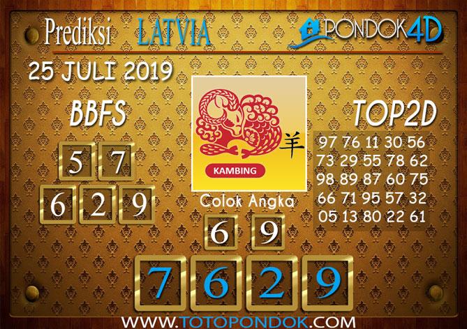 Prediksi Togel LATVIA POOLS PONDOK4D 25 JULI 2019