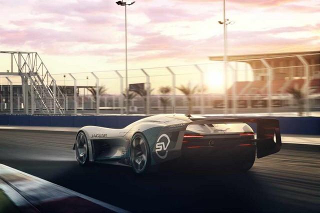 Jaguar Lève Le Voile Sur La Vision Gran Turismo SV : La Voiture De Course 100% Électrique Ultime Pour Les Passionnés De Course Automobile Jag-GTSV-Ontrack-Rear-161220