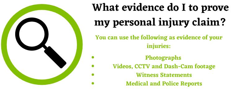 personal injury claim evidence