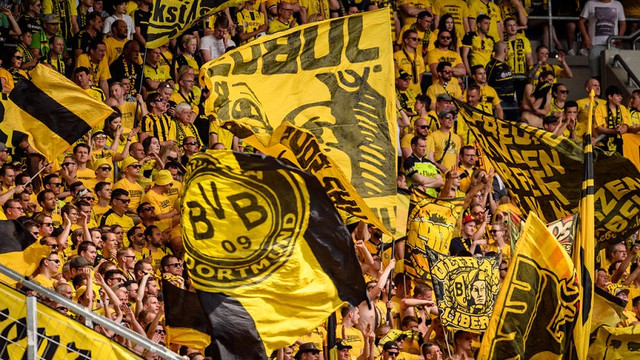 SINSHEIM-GERMANY-MAY-12-Fans-of-Dortmund-are-seen-during-the-Bundesliga-match-between-TSG-1899-Hoffe