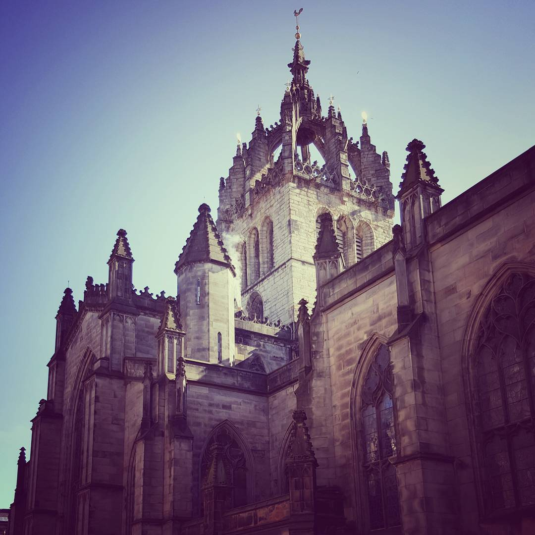 An image of Edinburgh's main cathedral,  St Giles.