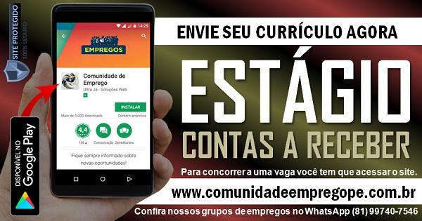 ESTÁGIO CONTAS A RECEBER COM BOLSA R$ 600,00 PARA GRÁFICA EM IGARASSU