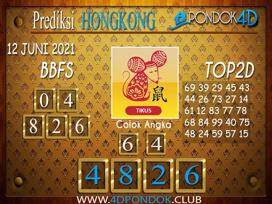 Prediksi Togel HONGKONG PONDOK4D 12 JUNI 2021