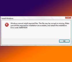 Ошибка 0x80070570 — как исправить