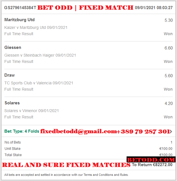 VIP TICKET BET ODD | FIXED MATCHES