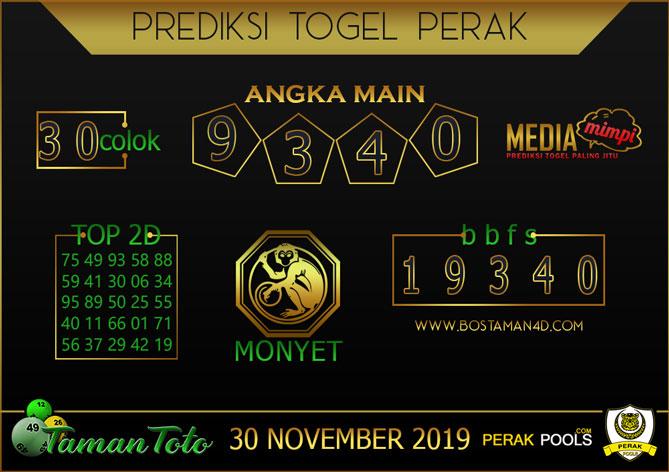 Prediksi Togel PERAK TAMAN TOTO 30 NOVEMBER 2019