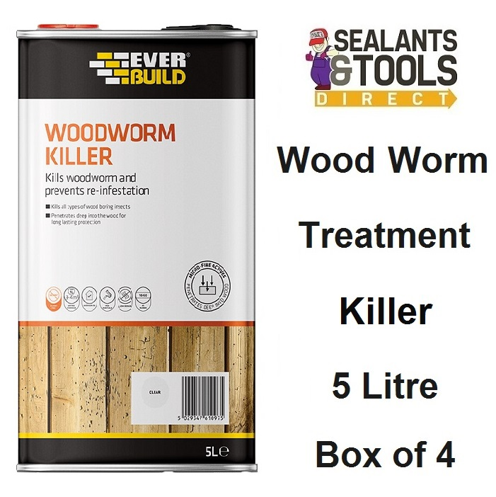 Everbuild-Woodworm-Wood-Worm-Killer-5-Litre-LJWORM05-Box-of-4