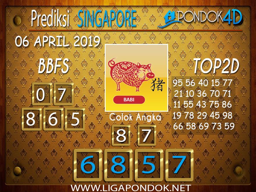 Prediksi Togel SINGAPORE PONDOK4D 06 APRIL 2019