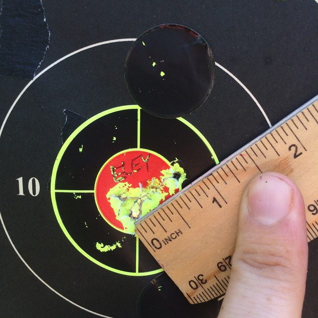 Does sandbag resting a pistol affect point of impact? IMG-6765