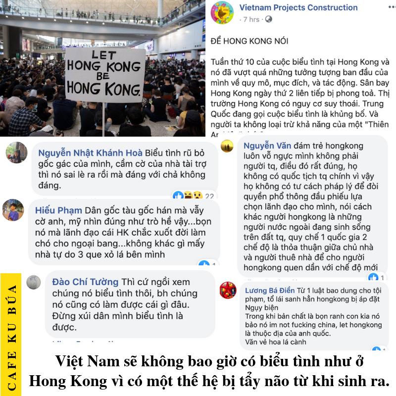 VIỆT NAM BIỂU TÌNH NHƯ Ở HONG KONG? KHÔNG BAO GIỜ