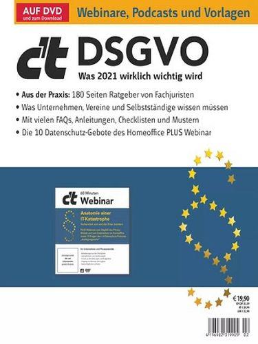 Cover: ct Magazin für Computertechnik Sonderhefte Dsgvo No 02 2021