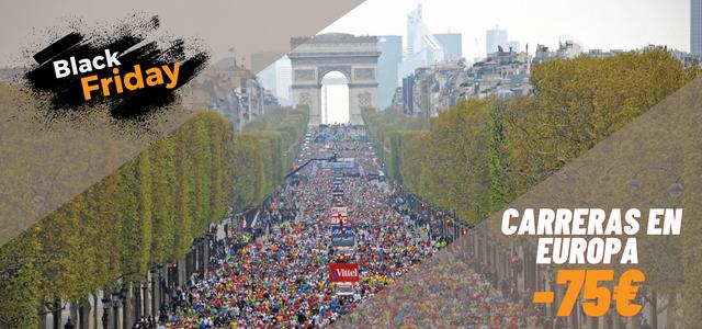 Black Friday maratón o medio maratón Europa Travelmarathon.es