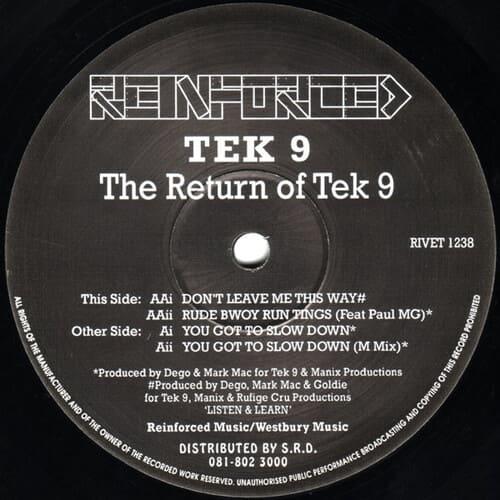Download Tek 9 - The Return Of Tek 9 mp3